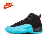 Original New Arrival Authentic NIKE Air Jordan 12 Retro (GS) Gamma Womens Basketball Shoes Sneakers Sport Outdoor