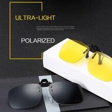 2 sztuk Night Vision spolaryzowane okulary klip jazdy okulary gogle żywiczne soczewki okulary do jazdy nocą akcesoria samochodowe