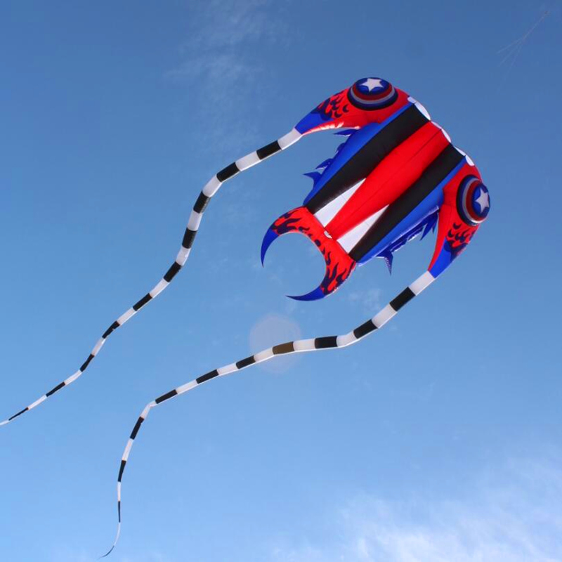 New design free shipping high quality large captain trilobites kite soft kites ripstop nylon fabric kite reel toys flying bar цена 2017