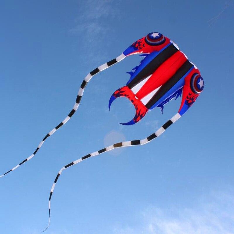 Nouveau design livraison gratuite de haute qualité grand capitaine trilobites cerf-volant cerfs-volants doux ripstop nylon tissu cerf-volant bobine jouets barre volante