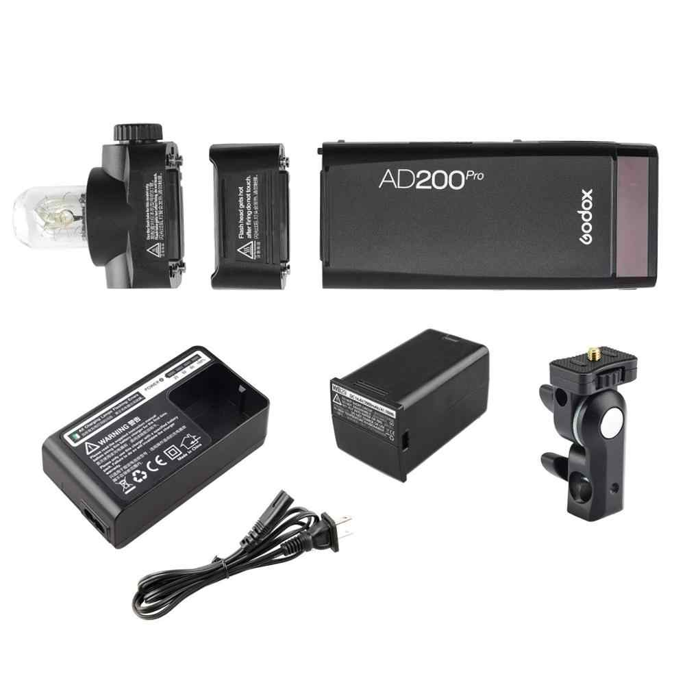 Godox AD200Pro Flash de poche sans fil TTL Flash GN52 GN60 1/8000s HSS 2.4G sans fil X système pour appareil photo Nikon Sony Olympus Canon