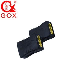 Image 5 - GCX משלוח חינם HDMI מתאם ממיר נקבה לנקבה 1080P ברזולוציה גבוהה HDMI כבל הארכת מצמד מחבר
