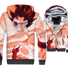 Dragon Ball Cosplay Mens Sweatshirts 2018 New Hot Sale Jackets Gothic Winter Thick Zipper Tracksuit Hip Hop Coat With Hat