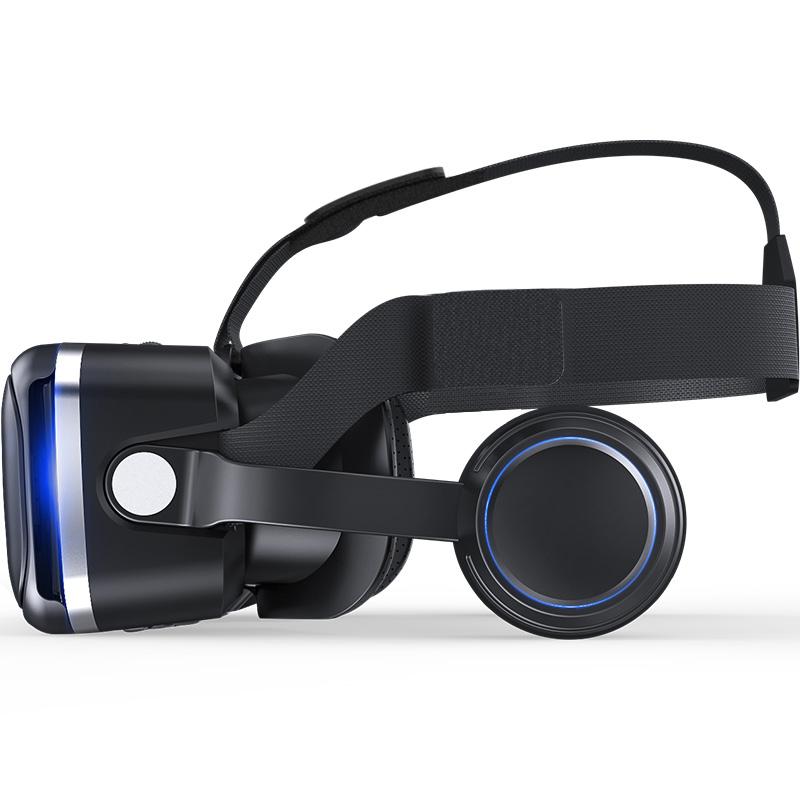 Original VR shinecon 6.0 headset version virtual reality glasses 3D glasses headset helmets smart phones Full package+GamePad 2