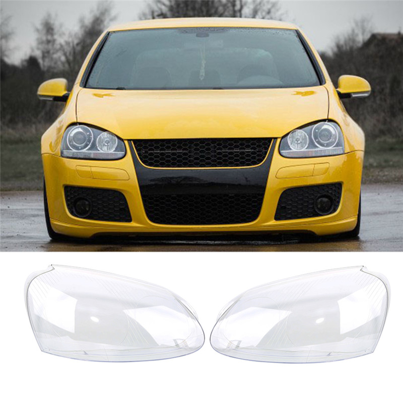 1 Pair Car Lights Headlight Lens Shell Cover  Lamp Assembly For VW Golf5 MK5 Jetta 2005-2009 Transparent Housing Car Styling pair of headlight assembly for vw golf 5 suitable for halogen bulbs and led headlights