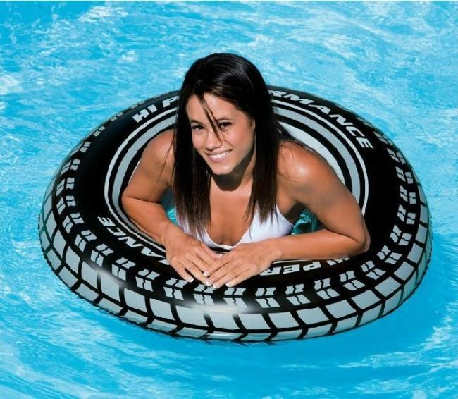 Däck stil Uppblåsbara simning Ring Badkappar Flytande Cirkel Sommar Vattensporter