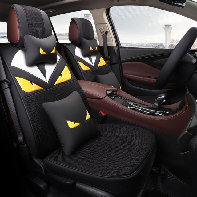 New Breathable Linen + Wear Leather Four Seasons Cushion, Winter Warm Summer  Cool Car Seat