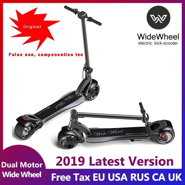 2019 mais novo widewheel scooter elétrico duplo motor scooter elétrico kick-scooter 634wh scooters adultos com chave de bloqueio e voltímetro