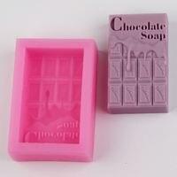 BH018 Chocolate Shaped Silicone Mold Soap Molds Fondant Molding Cake Decoration