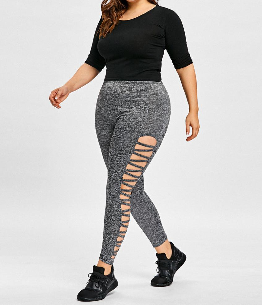Female Plus Size Women Sexy Leggings Trousers Sport Large -2263