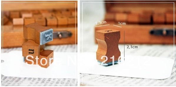 30pcs/set  Letter Wood stamp Set Wooden Box Multi-purpose stamp DIY funny work/regular script