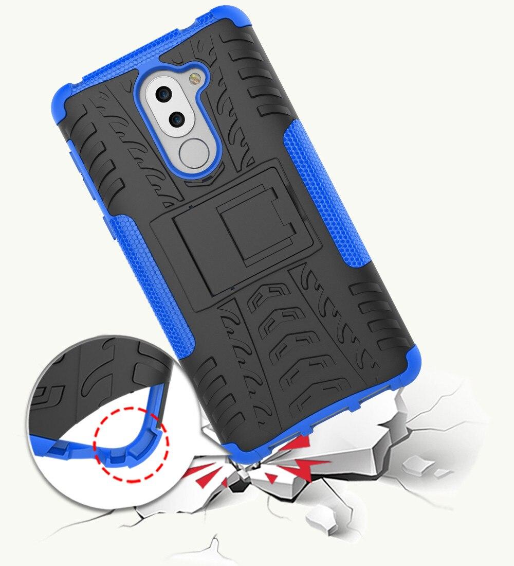 Huawei honor 6x case для honor 6x обложка антидетонационных силиконовые mix гибридный защитная крышка shell коке fundas