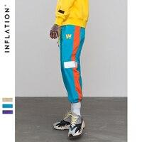 INFLATION Mens Womens Sportswear Pants Reflect light tape jogger pants Highstreet Vintage Men Women Sportswear Sweatpants 8878W