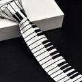 De Los nuevos Hombres de Negro y Blanco Teclado de Piano Corbata Tie Classic Delgado moda Flaco Empate Música