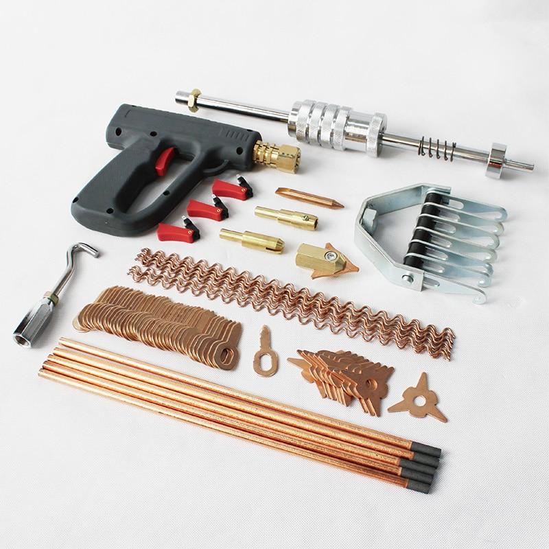 car body dent repair puller stud welding kit welder machine gun spotter panel straightening dents automotive