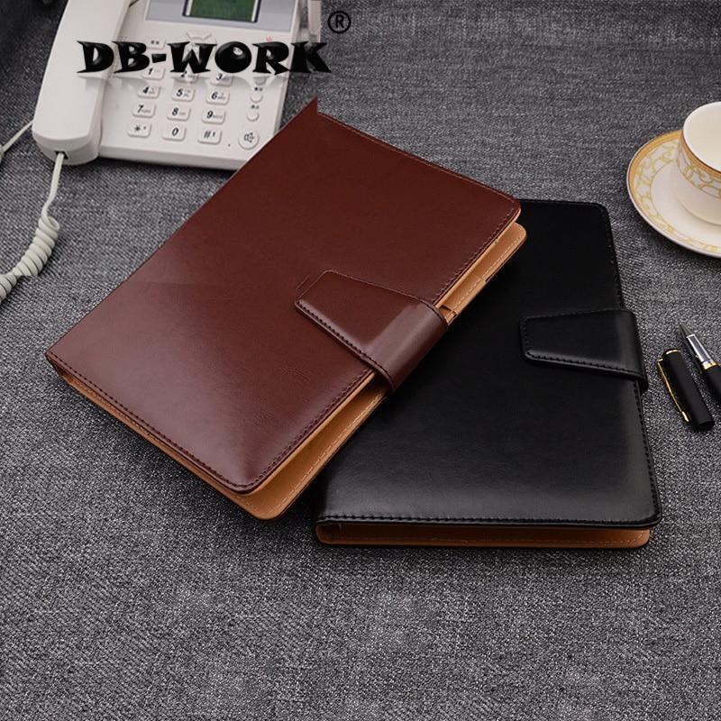 2019 A5 Business Leather Notebook Высокого класса бизнес-ноутбук с кожаной пряжкой блокнот A5 настройки