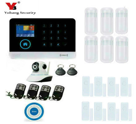 Yobang Security WIFI+GSM+GPRS Wifi Automation GSM Alarm System Home Protection GPRS WIFI GSM Alarm System with HD camera yobang security wifi automation gsm alarm system home intelligent gsm gprs sms wifi security kits wifi camera red solar siren