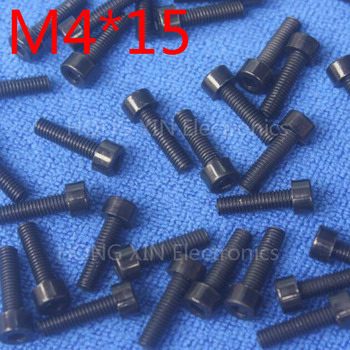 M4*15 Black 1pcs Nylon Inner Hexagon Socket Head Cap Screws 15mm Plastic Bolt Insolation brand new RoHS compliant PC/board DIY image