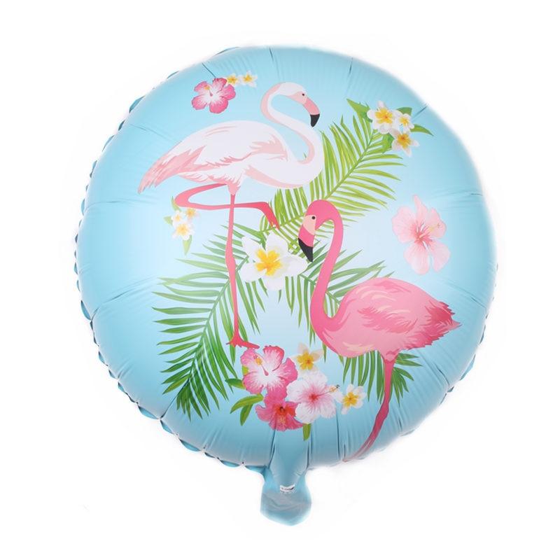 TSZWJ DD-007 New 18-inch round Flamingo aluminum balloon Baby birthday party decoration decorative balloon Seal