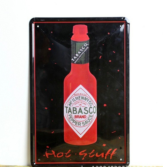 Hot Stuff Tabasco Metal Poster Advertising Sign Beer Tin Signs Decor Home Club Bar Cafe Wholesale