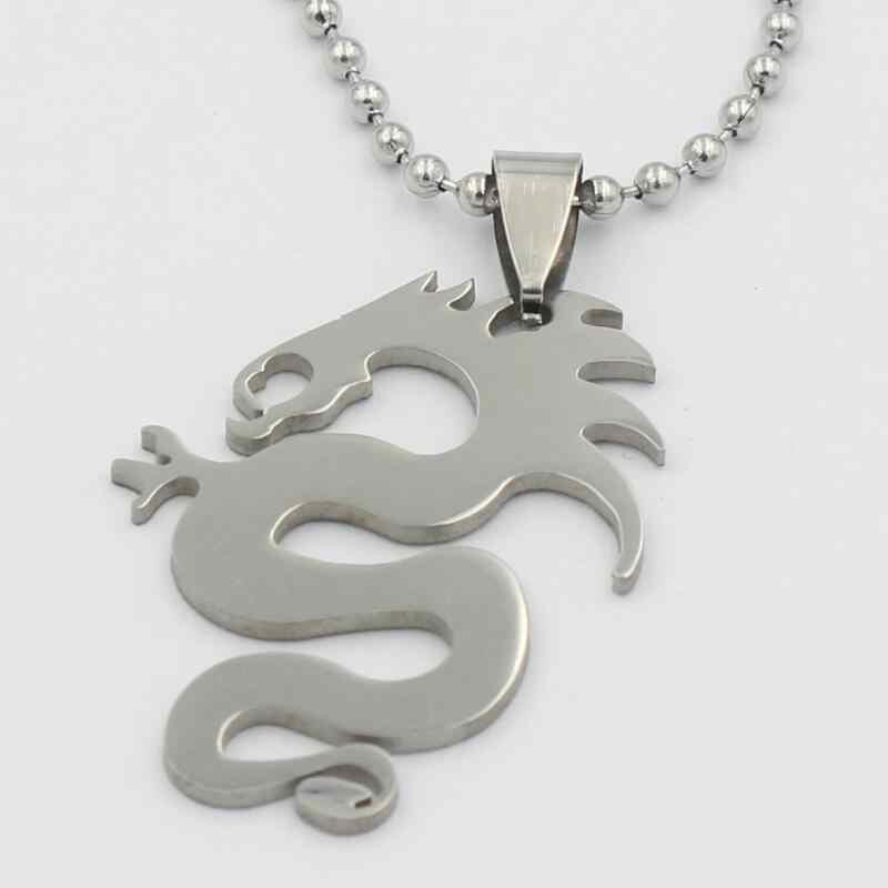 Нержавеющая сталь 60 см бусины цвет кулон с драконом ожерелья для мужчин для женщин jewelry интимные аксессуары Подарки wj056