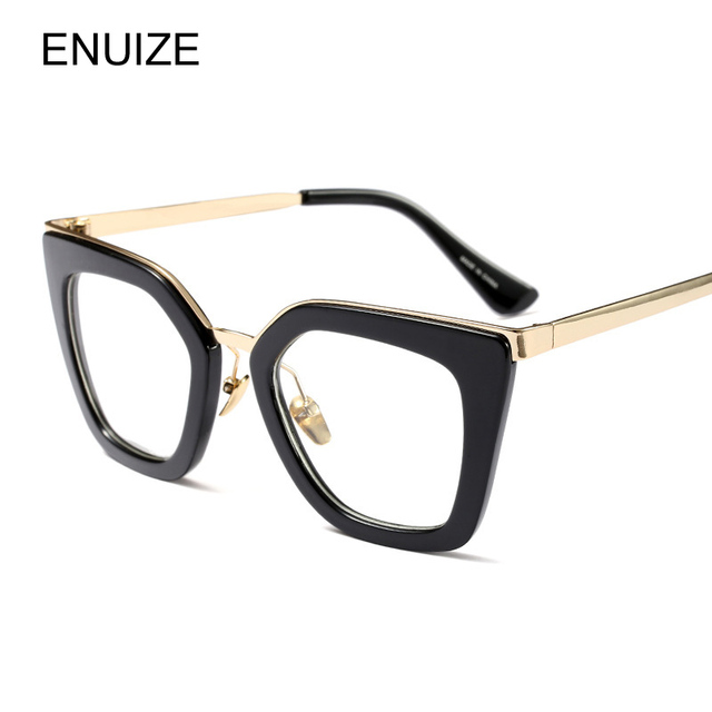 565e4a02bf Vintage Eyeglasses Frame Prescription Glasses Women Cat Eye Brand Designer  Plain Clear Glasses Optical Frame de grau