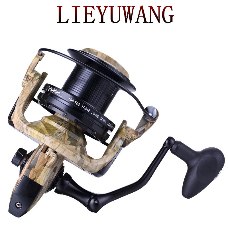 Lieyuwang 5000-10000 13BB Angeln Reel Metall Körper casting Spinning rad Karpfen angelrollen Carretilhas de pesca molinete AFS