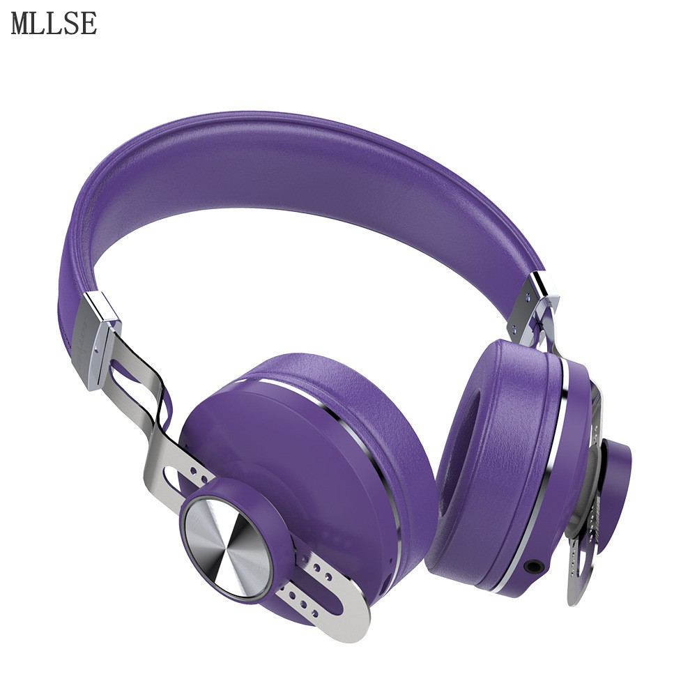 MLLSE Wireless Headphones with Microphone Metal Headband Stereo Headphones Sport Headset Bluetooth Headphone/Earphone for Phone remax rb s6 wireless bluetooth earphone headphones with microphone sport stereo bluetooth headset for iphone android phone