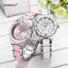 Часы наручные longbo Женские с керамическим браслетом брендовые