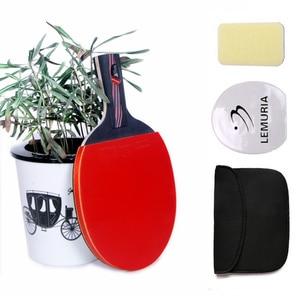 Lemuria углеродная фриберная ракетка для настольного тенниса с длинной ручкой или короткой ручкой, ракетка для пинг-понга с прыщами, резиновая ...