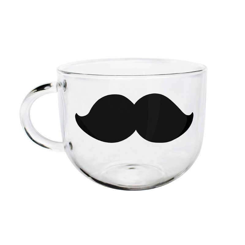 Arshen 500 мл 4 Stly Стекло чашки жаропрочных Ясно ручной кристалл мини прекрасные Чай Кофе молоко Чай круглый пить офис кружка