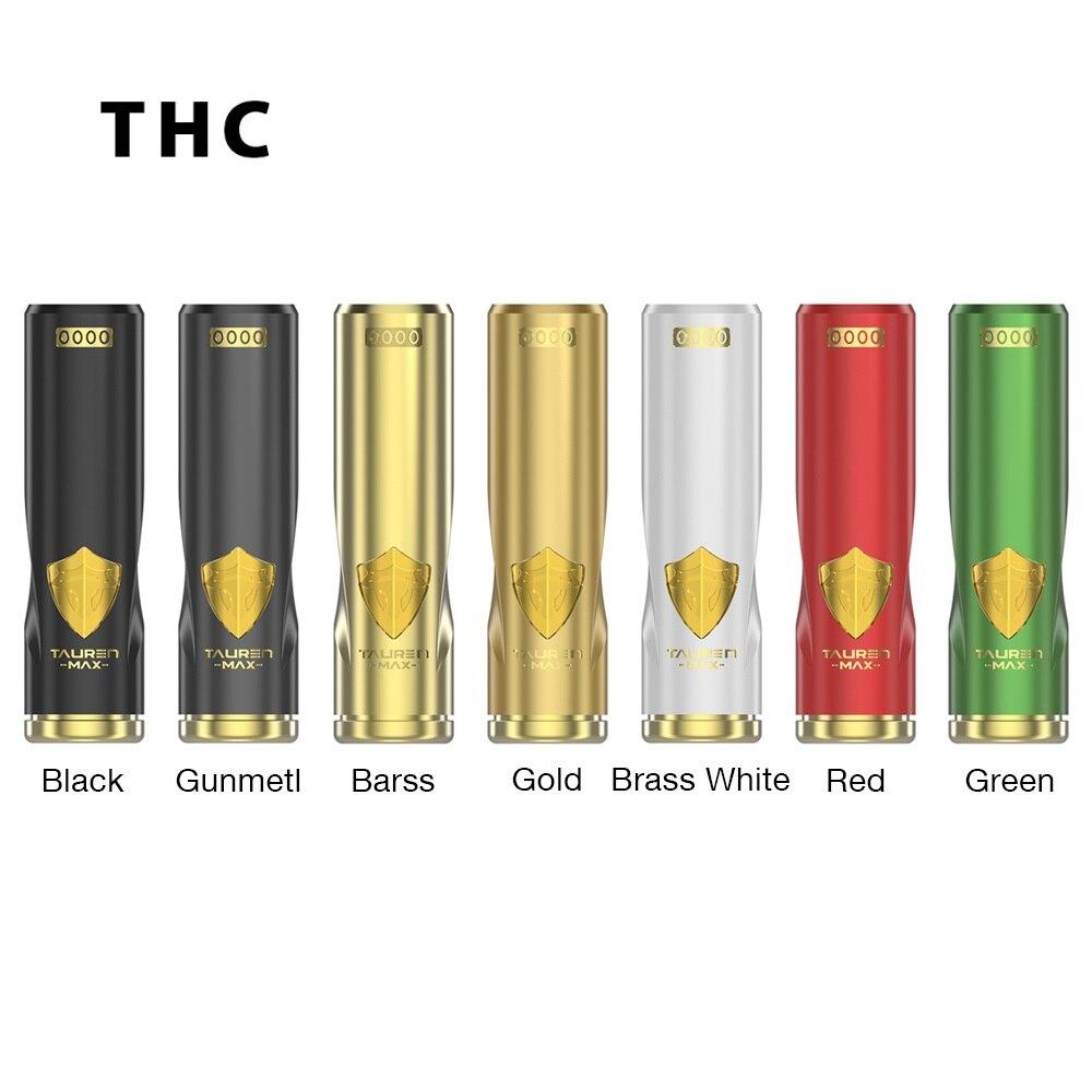 Chaud Original THC Tauren Max Mech MOD 24mm diamètre étanche/antichoc/anti-poussière pas 18650 batterie Vape VS THC Tauren Mech Mod