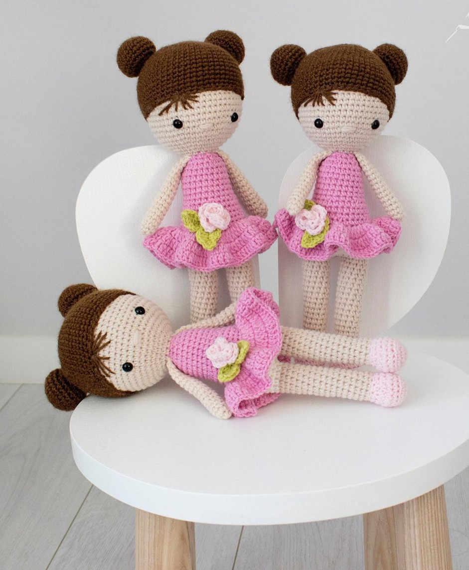 Amigurumi crochet doll pattern PDF for toy making Dorothy the ... | 1145x941