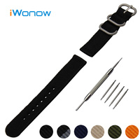 Nylon Watch Band 18mm 20mm 22mm For Timex Weekender Expedition Stainless Steel Pin Buckle Strap Wrist