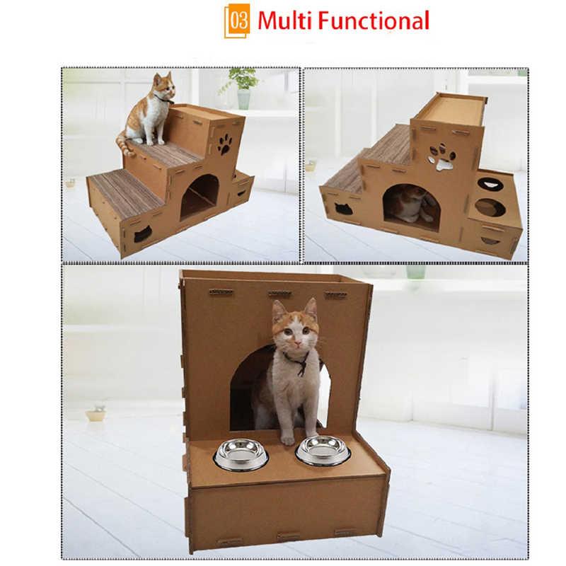 Игрушка для кошек дом большой кот скалолазание Мебель когтеточка для прыжков кошек Игрушка с лестницей для котят домашний домик игрушки для домашних животных продукт