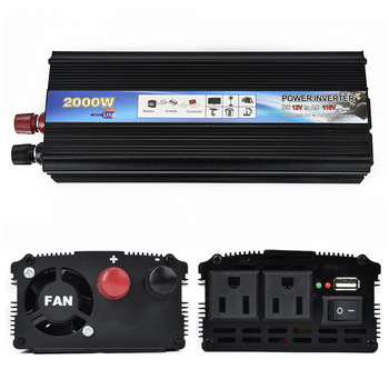 New 2000W DC 12V to AC 220V Auto Car Inverter Charger Converter Transformer Adapter Adaptor with Vehicle Power Switch