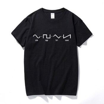 Sin Sqr Tri Saw T-Shirt Top Fourier Math Mathematics Nerd Geek School Science new fashion tee shirt homme funny t shirts