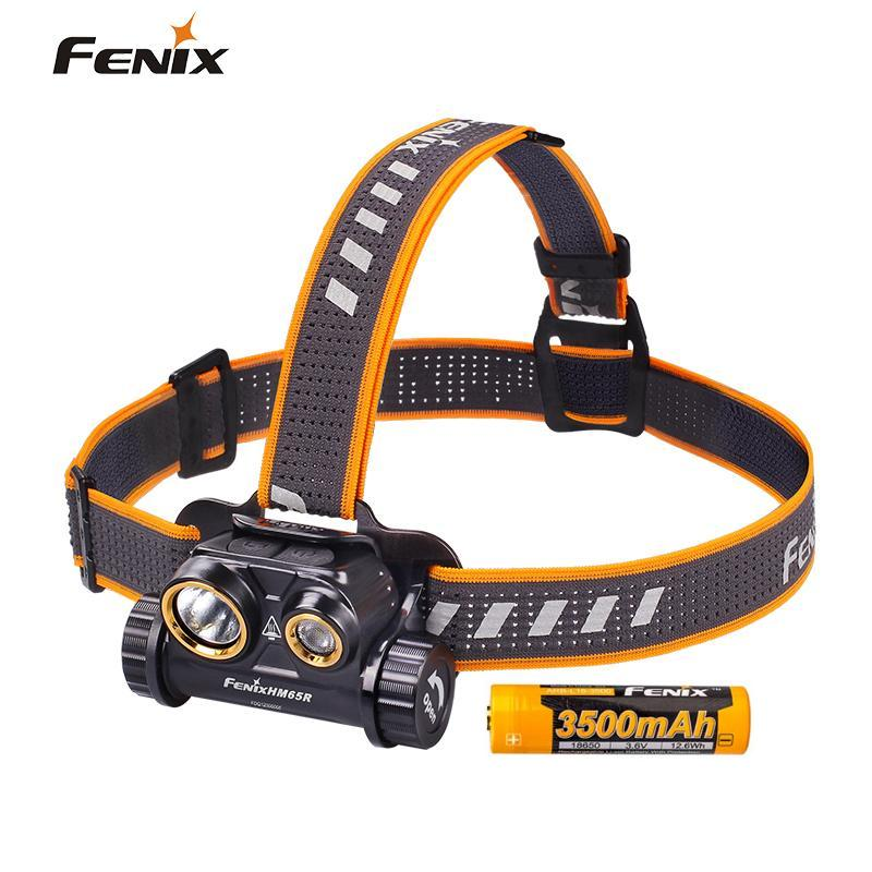Fenix HM65R 1400 Lumen Dual Beam USB Rechargeable Headlamp with Spotlight and Floodlight-in Headlamps from Lights & Lighting