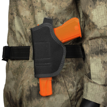 Concealed Carry Holster Tactical Gun Pouch Belt Metal Clip Holster Airsoft Nylon Pistol Bag Hunting Military Articles ultrafire nylon flashlight holster w belt clip black