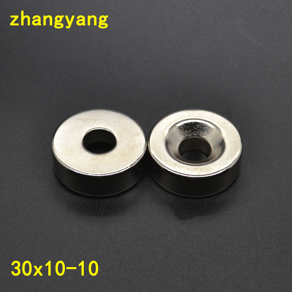2PCS 30mm x 10mm Hole : 10mm N35 Super Strong Round <font><b>Neodymium</b></font> Ring <font><b>Magnets</b></font> Rare Earth Permanet <font><b>Magnet</b></font> 30*10-10mm <font><b>30x10</b></font> -10mm image