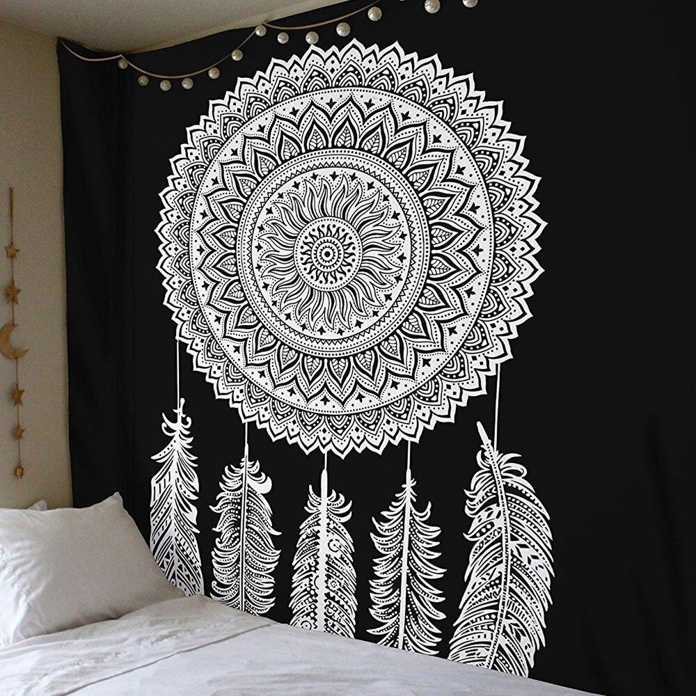 Гобелен чехол на спинку кровати Придверный коврик Современный Пляжный коврик из полиэстера Boho Мандала диван накидки пледы спальный настенная крышка - Цвет: 2