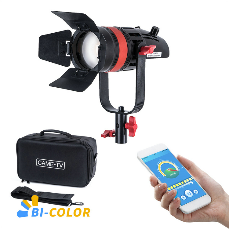 Image 1 - 1 Pc CAME TV Q 55S Boltzen 55w High Output Fresnel Focusable LED Bi Color With Bag-in Photo Studio Accessories from Consumer Electronics