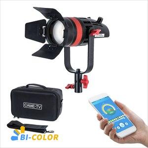 Image 1 - 1 Pc CAME TV Q 55S Boltzen 55w High Output Fresnel Focusable LED Bi Color With Bag Led video light