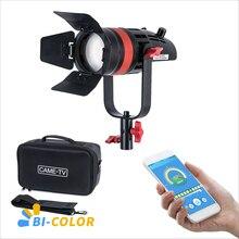 1 pc CAME TV Q 55S boltzen 55w alta saída fresnel focalizável led bicolor com saco led luz de vídeo