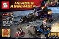 Sy581 avenger super hero negro panther combatiente persecución de bloques de construcción figuras figuras legao ladrillos