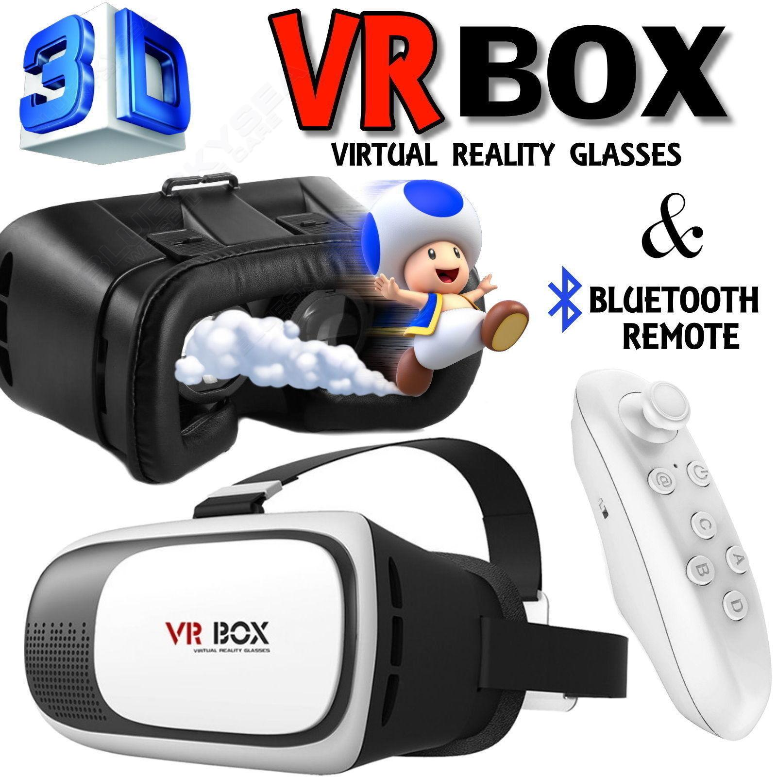Free shipping!VR Headset Virtual Reality VR BOX Goggles 3D Glasses Google Cardboard Remote