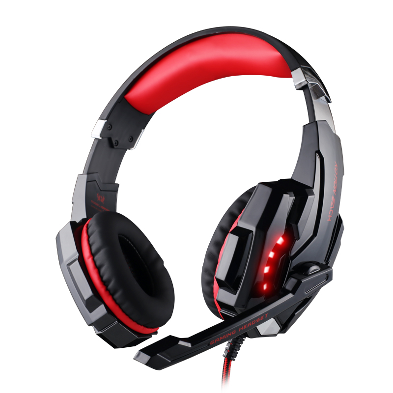 KOTION EACH G9000 3.5mm PS4 Gaming Headphone Network Games Headset with Mic Shock feeling Sound for Laptop Tablet Mobile Phones