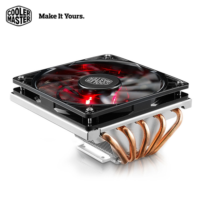 Cooler Master Computer CPU Cooler 5 heatpipe 12cm LED fan For Mini Case HTPC Quiet Intel AMD Desktop PC CPU cooling radiator fan