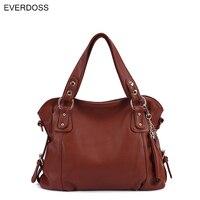 2016 Fashion New Brand Designer Women Casual Tote Bags Genuine Leather Handbag Shoulder Bag Solid Bigs