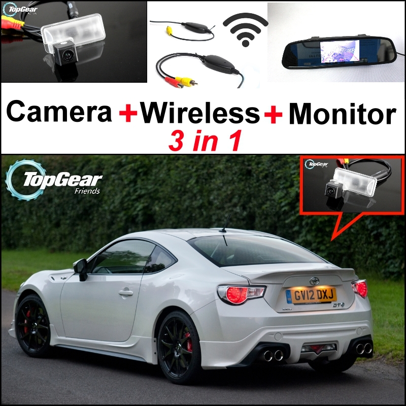 3 in1 Special Camera + Wireless Receiver + Mirror Monitor Parking System For TOYOTA 86 GT FT GT86 FT86 86GT 86FT For Subaru BRZ 3 in1 special rear view camera wireless receiver mirror monitor easy diy back up parking system for vw volkswagen passat cc